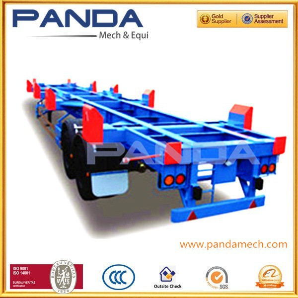 Panda 2 axle port semi trailer terminal semi trailer bomb cart conaitner semi trailer with mechanical suspension