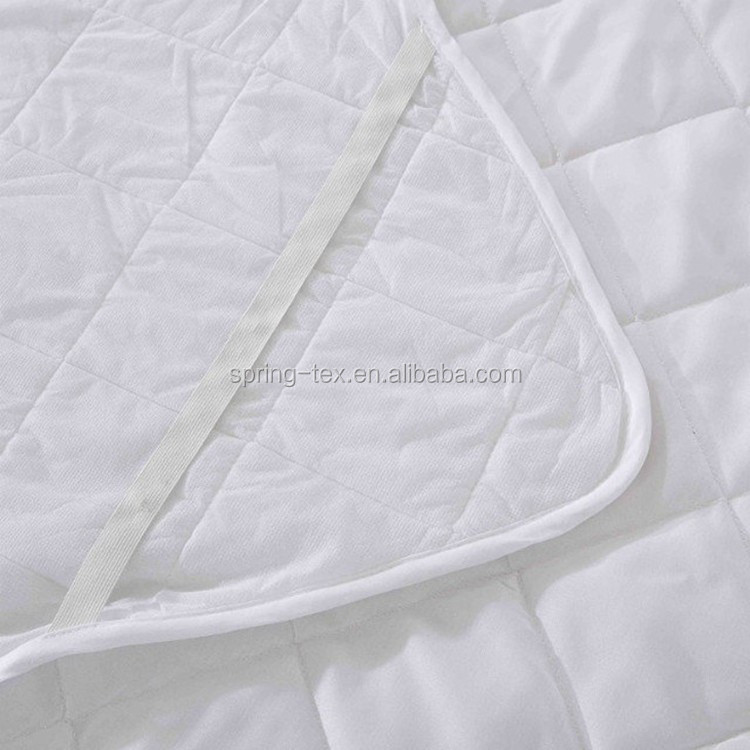 China Manufacturer 125GSM polyester knitted Jersey Waterproof Mattress Encasement and Mattress Protector Cover with Zipper