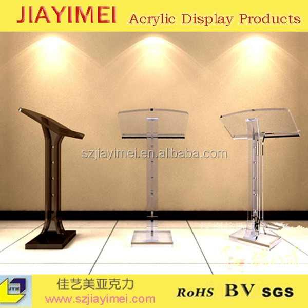 New designed white platform/podium/free standing display in acrylic