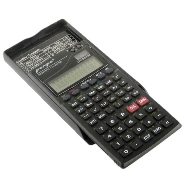 Porpo YH-2000 12-hour time format 2.5 inch 11 Digits Function Scientific Calculator