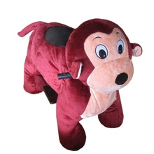 Hot Sale 12V Battery Indoor Kids Amusement Monkey Plush Rides On Animal Toy