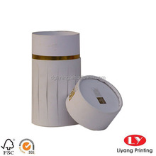 White cardboard round box elbow head hot foil gold circle for gift made in china