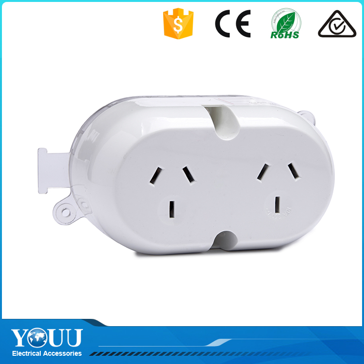 YOUU Business For Sale Australia Universal Electric Plug Base 3 Flat Pin 250V 10A Double Surface Socket