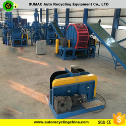 fully automatic used tire recycling rubber powder processing line