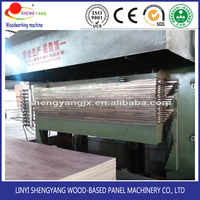 plywood making machine/melamine lamination hot press