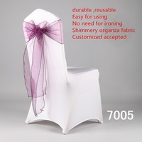 fashion wedding ruffled chair cover /chair sash/chair ribbon/chair bow/chair band for sale