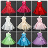 2016 new product sleeve less bow girls frock