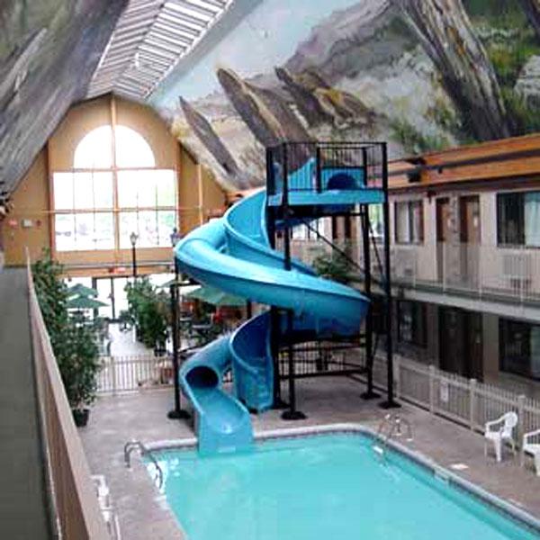 Hotel Indoor Fiberglass Swimming Pool Slide