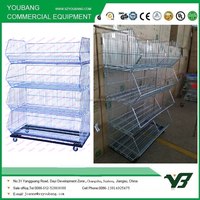 steel stacking folding warehouse cage