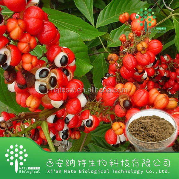 Factory supply 100% Natural guarana powder extract,Caffeine 10%,Caffeine extract