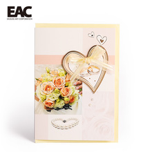 Alibaba retail new couple rings handmade 3D cards wedding invitation cover