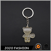 Fashion Custom Plastic Playing Basketball Bear Key chain