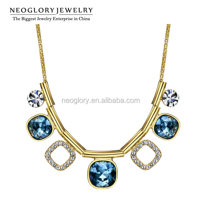 Neoglory Crystal Rhinestone 14k Gold Plated Choker Imitation Necklace Jewelry Made With Swarovski Elements
