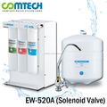 5-Stage RO Water Filtration System With Solenoid Shut Off Valve