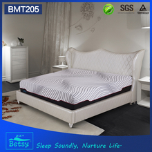 King size round korea heated style hotel mattress with gel memory foam and knitted fabric cover