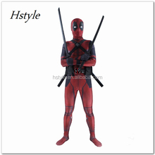 Professional Cartoon Character Adult Sex Cosplay Costumes Deadpool Costume For Men HNF031