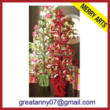 Hot sale 2015 decorated tabletop artificial mini Christmas tree colors
