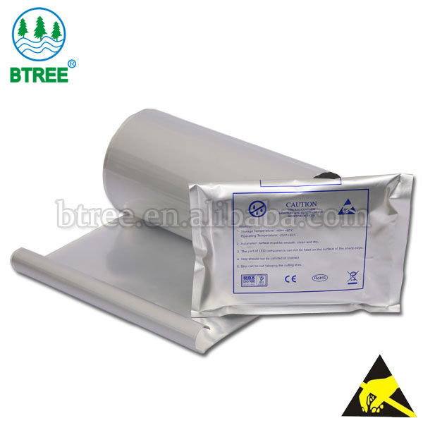 Btree ESD Laminated Foil Packaging Film For Moisture Barrier bags