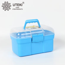 Eco-Friendly plastic cosmetic case with clear lid