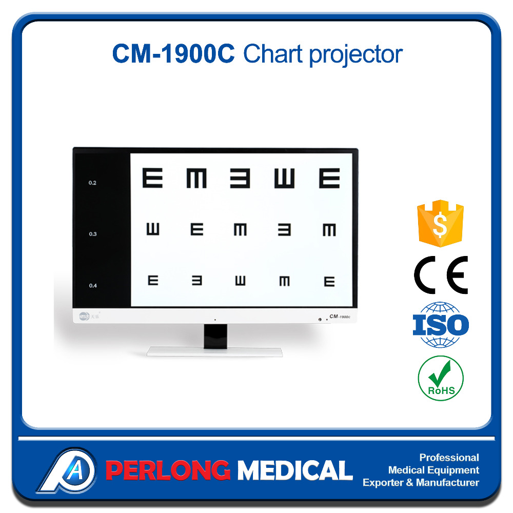 CM-1900C Optical eye chart projector with remote control