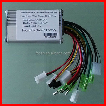 24v 250w Brushless Motor Controller For Electric Bike Bicycle Scooter Buy 24v 250w Brushless