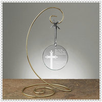 Glass Round Table Decorations Hanging Ornaments With Metal Stent