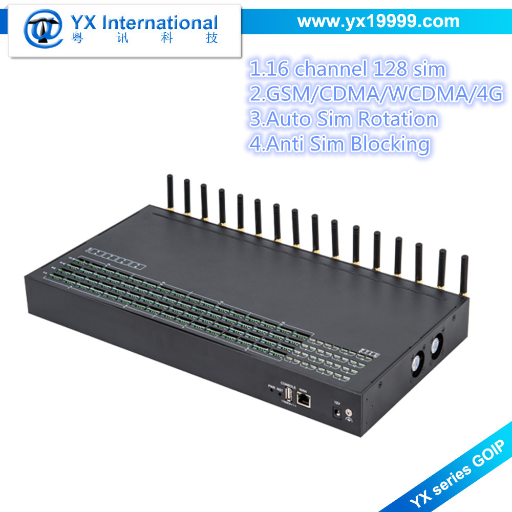 encryption vpn register 16 port 128 sim card voip gsm gateway, goip 16/128