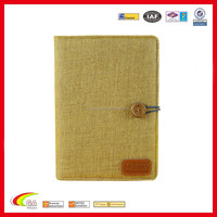 The World's First Power Notebook, Office Supplies Vintage Style A5 Portable Customized Notebook with Power Bank