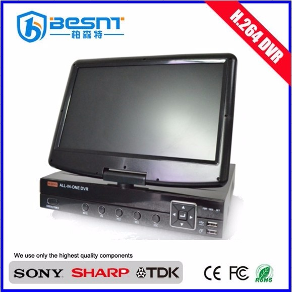 "Besnt P2P 8ch 10.5"" LCD dvr Recorder h.264 BS-P08K"