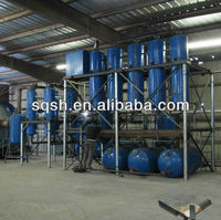 waste plastic oil distillation to diesel machine by Vacuum pressure