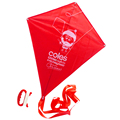 diamond shape kite with red printing for promotion