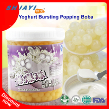 New Product Yoghurt Flavor Popping Boba Fruit Juice In Popping Balls Bursting Boba For Bubble Tea Ingredients