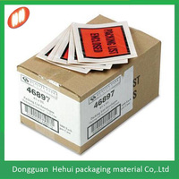 self adhesive full faced printing UPS packing list envelopes