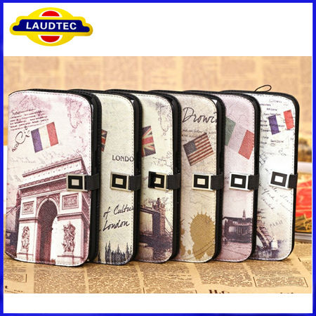 retro historical leather purse stand wallet case for samsung galaxy s4 mini i9190