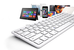 78 Keys Ultra Thin wireless Keyboard for Laptop Tablet Windows PC Computer Curve Chocolate keycap