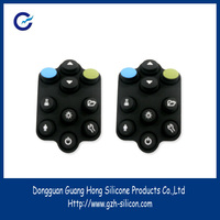 Customized usb rubber keypads with carbon pill