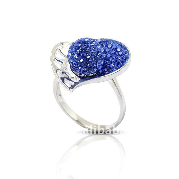 fashion engagement crystal ring