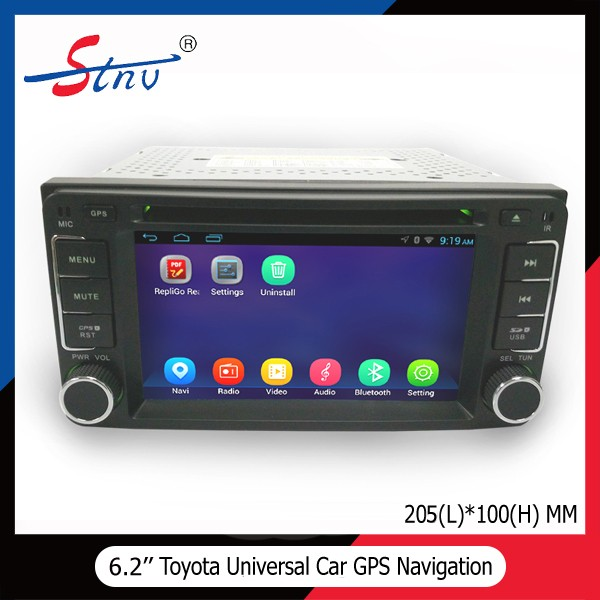 2 Din Universal 6.2 Inch Car DVD Player With GPS/Radio/RDS/3G For Toyota