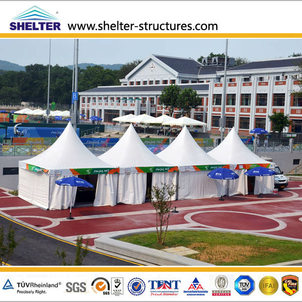 5x5 mtr portable pagoda tents supplier in Guangzhou for sale