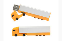OEM Truck Shape Usb Flash Drive with Customized Logo 4GB
