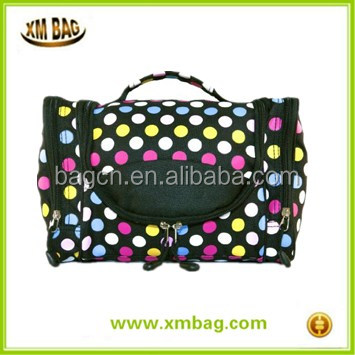 2017 New style cosmetic bag with zipper,toiletry bag makeup bag with hander