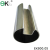 Stainless steel glass pipe fitting u channel slot tube