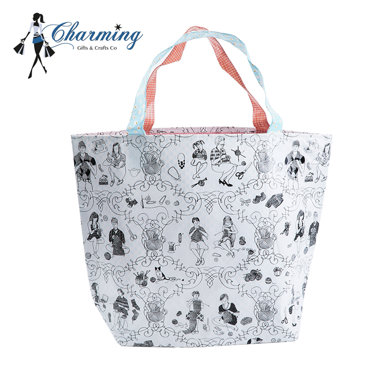 2018 New fashion High quality cartoon large tote bags cheap non woven tote bag