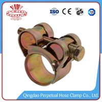 China Supplier high pressure heavy duty rated t bolt hose clamps