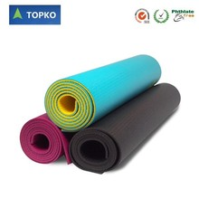TOPKO Wholesale Durable Eco Friendly High Density Black PVC Yoga Mat