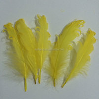 Handmade plumage crafts wholesale bleached natural white rooster saddle feathers strung