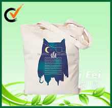 8oz natural cotton shopping bag with heat transfer printed logo