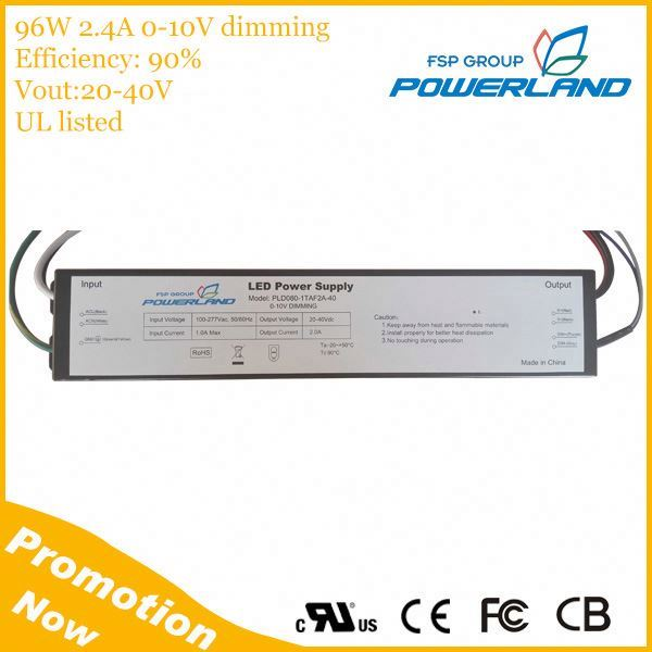 96W 20-40Vout 2.4A Led Waterproof Power Supply
