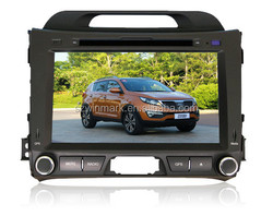 8inch double din car gps navigation for KIA Sportage R dvd gps player DH8003