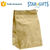 China Supplier Wholesale Food Use Brown Insulated Tyvek Paper Bag With Magnetic Closure